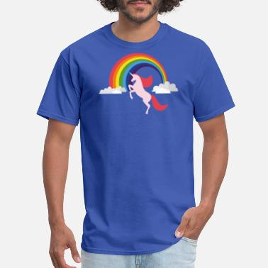 Funny Unicorn Unicorn With Rainbow Funny T shirt - Men's T-Shirt