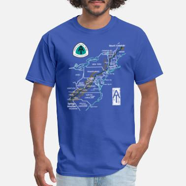 Appalachian Trail Appalachian National Scenic Trail Map AT Map - Men's T-Shirt
