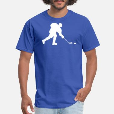 Field Hockey Player In Silhouette Ice Hockey Player Silhouette - Men's T-Shirt