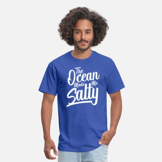 Marine Animal T-Shirts - The Ocean Made Me Salty - Men's T-Shirt royal blue