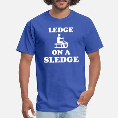 Ledge Ledge On A Sledge - Men's T-Shirt