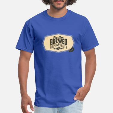 Coffee Bean Try Our Brewed Fresh And Tasty Coffee With Frame - Men's T-Shirt