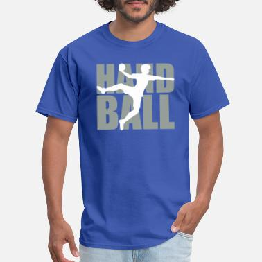 Ballads text logo silhouette outline handball ball throwin - Men's T-Shirt