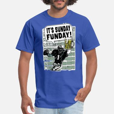 Weed Football Sunday Funday Beer and Football - Men's T-Shirt