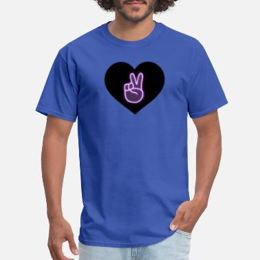 The Dolan Twins Peace victory Dolan twins sign in a love heart - Men's T-Shirt