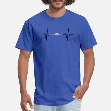 Mountain Beat My heart beats for mountains! gift - Men's T-Shirt