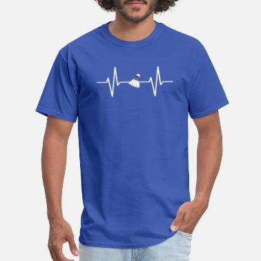 Badminton Heart Beat My heart beats for badminton! gift - Men's T-Shirt