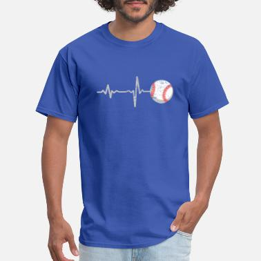 Baseball Heartbeat gift heartbeat baseball - Men's T-Shirt