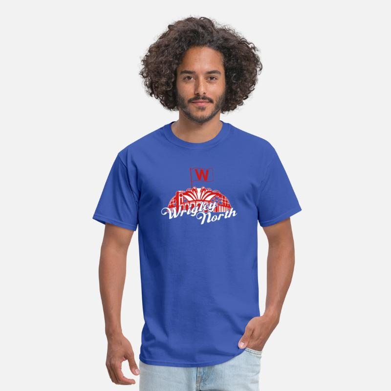 Brewers T-Shirts - Wrigley North Fly The W - Men's T-Shirt royal blue