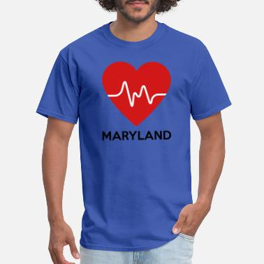 Maryland State Heart Heart Maryland - Men's T-Shirt