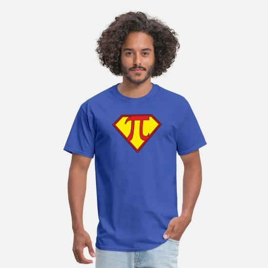 Pi T-Shirts - SuperPI - Men's T-Shirt royal blue