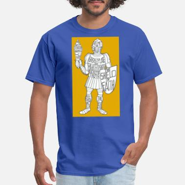 Cat Suit Dave The Cat Suit Of Armor GOLD - Men's T-Shirt