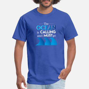 Captain Awesome the ocean is calling - Men's T-Shirt