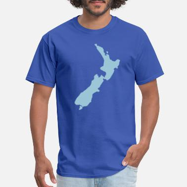 Map New Zealand - Men's T-Shirt
