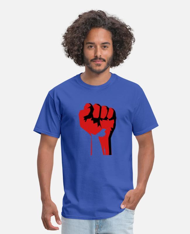 Herren T-Shirt No Pasaran Faust Fist Größe bis 5XL