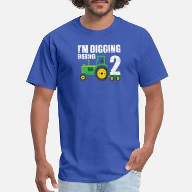 2nd Birthday Kids Tractor Shirt 2 Year Old Birthda