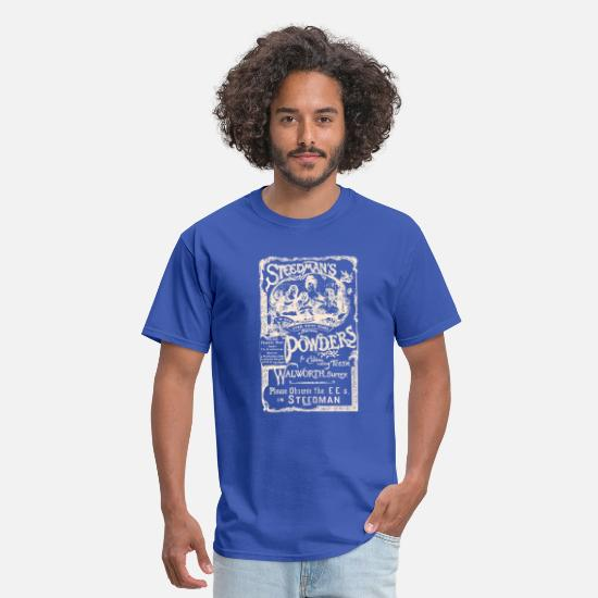 Vintage T-Shirts - Steedman Powders - Men's T-Shirt royal blue