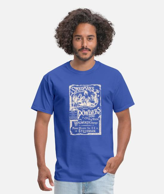 Medicine T-Shirts - Steedman Powders - Men's T-Shirt royal blue