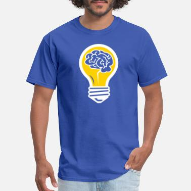 Brainchild An Idea Popped Up! Light Bulb With A Brain! - Men's T-Shirt