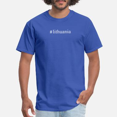 I Love Lithuania Lithuania Hashtag - Men's T-Shirt