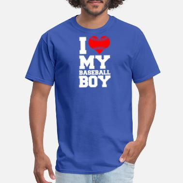 I Love My Basketball Boy Baseball boy - Men's T-Shirt