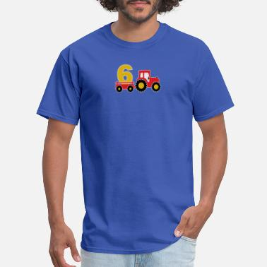 6 Year Old 6 years old and truck - Men's T-Shirt