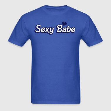 sexy babe in popular doll font - Men's T-Shirt