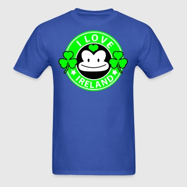 i love ireland monkey face Coffee chain parody For St Patricks Day - Men's T-Shirt