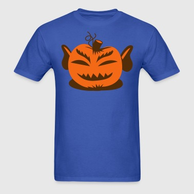 Mr spock from Star trek on a Halloween pumpkin - Men's T-Shirt