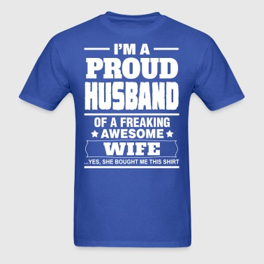 Proud Husband.... - Men's T-Shirt