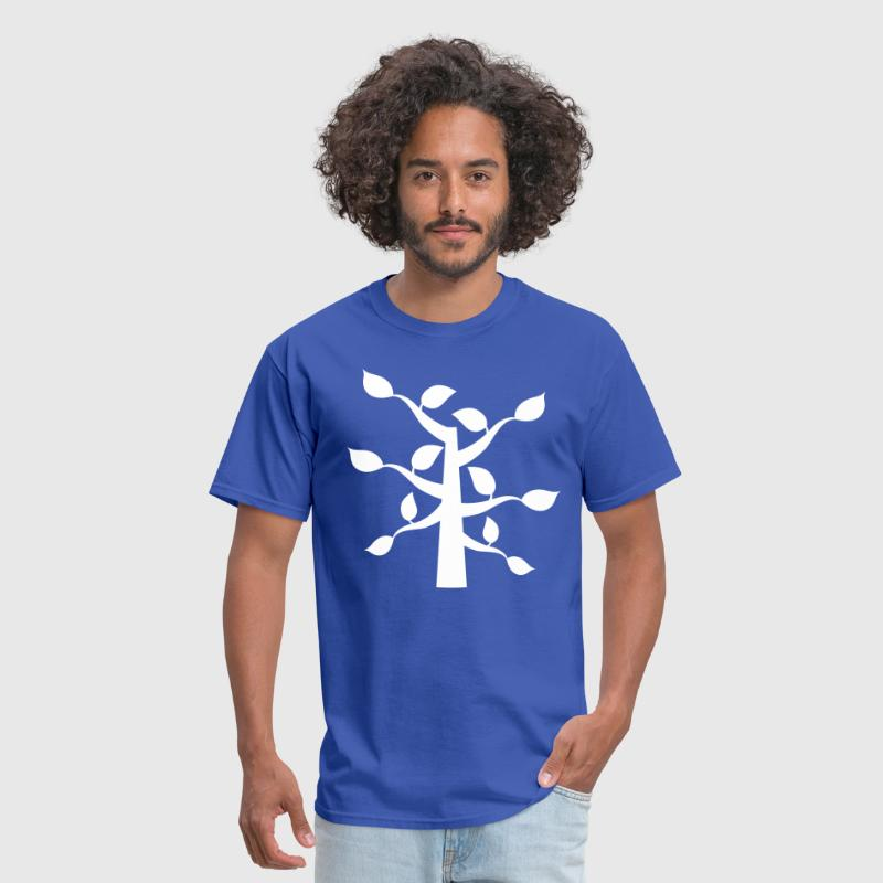 funky leaves tree shape - Men's T-Shirt