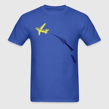 airplane & swoosh - Men's T-Shirt