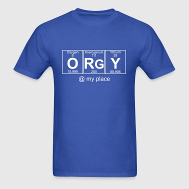 O-Rg-Y (orgy) - Full - Men's T-Shirt