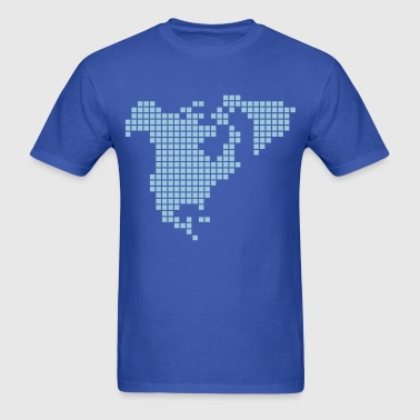 North America Pixel Style - Men's T-Shirt