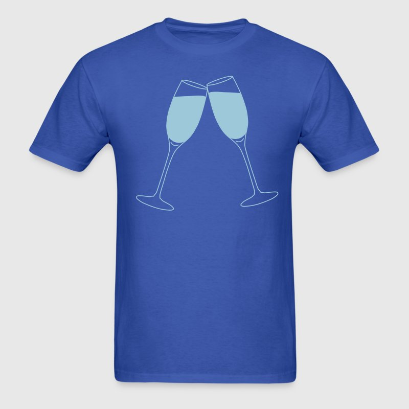 Champagne Glass Toast - Men's T-Shirt