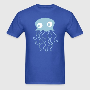 jellyfish with googly eyes for baby - Men's T-Shirt