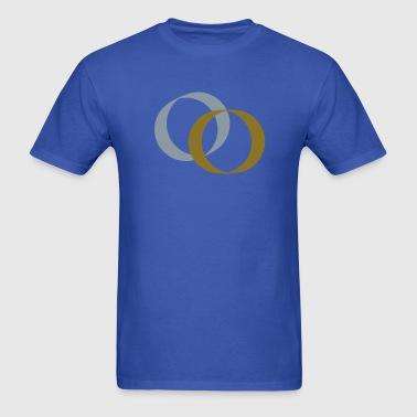 two rings gold and silver good for weddings and engagement - Men's T-Shirt