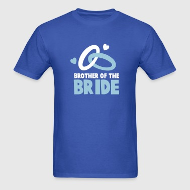 Brother of the BRIDE with cute wedding rings - Men's T-Shirt