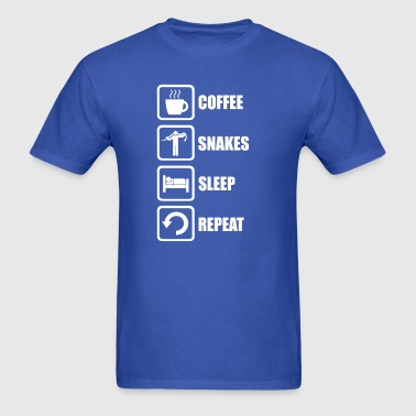 Funny Snakes Sleep Repeat - Men's T-Shirt
