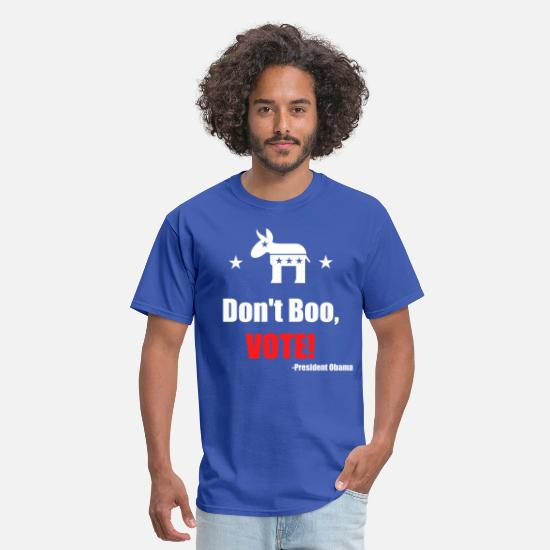 Democratic Party T-Shirts - Don't Boo Vote Pres Obama - Men's T-Shirt royal blue