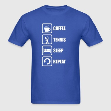 Funny Tennis Sleep Repeat - Men's T-Shirt