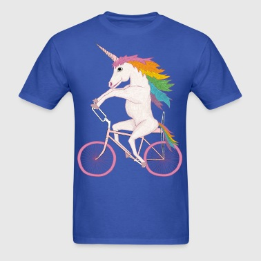 unicorn on bike - Men's T-Shirt