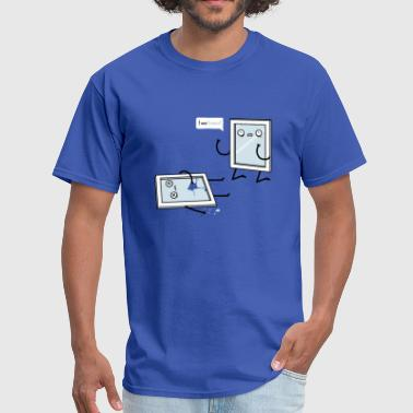 Breast Puns Funny windows pun - Men's T-Shirt