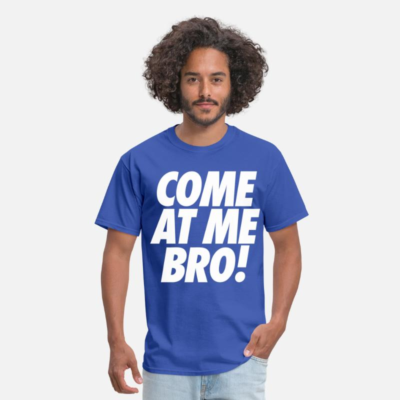 Ronnie T-Shirts - Come At Me  Bro - Men's T-Shirt royal blue