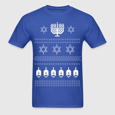 Ugly Happy Hanukkah Sweater Shirt - Men's T-Shirt