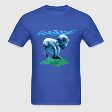 Two Manatees - Men's T-Shirt