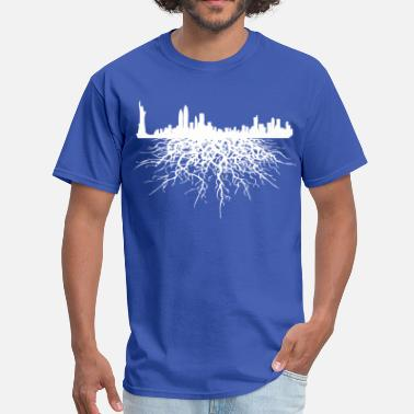 Nyc Roots NYC NY New York City Roots Skyline - Men's T-Shirt