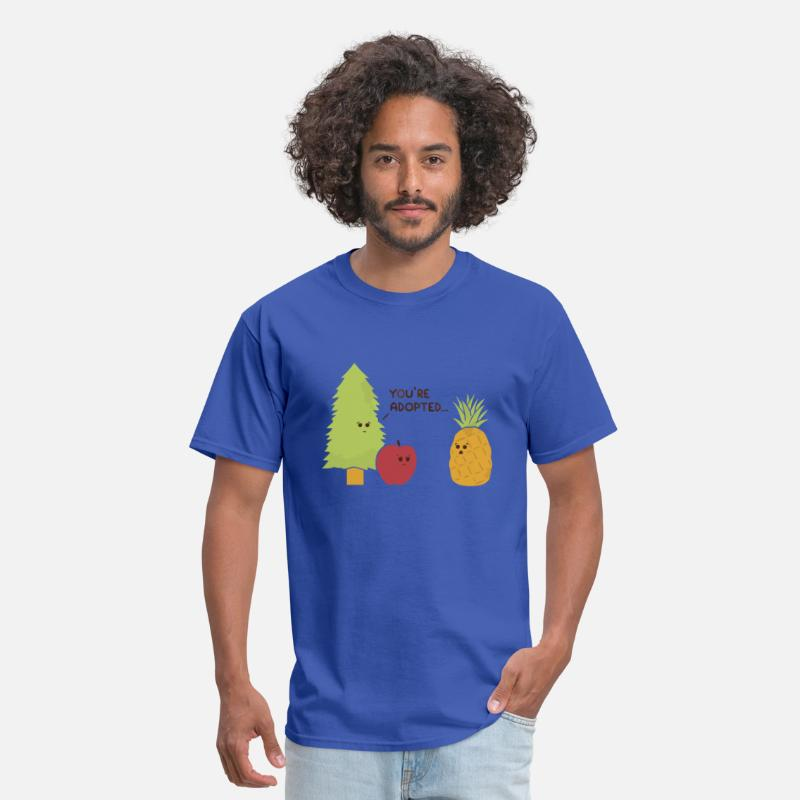 Pun T-Shirts - Pineapple pine apple pun - Men's T-Shirt royal blue