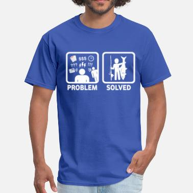 Sharks Jokes Shark Fishing Problem Solved Joke Shirt - Men's T-Shirt