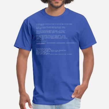 Screen Blue Screen of Death - Men's T-Shirt